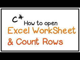 how to edit excel worksheet using c part 1 open excel