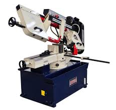 metal cutting band saw with swiveling base horizontal bandsaws