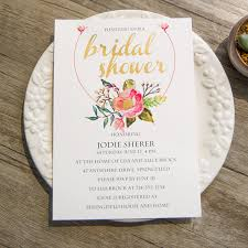 floral foil boho floral foil bridal shower invitations ewbs058 as low as 1 19