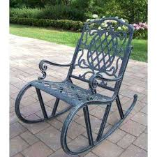 Patio Rocking Chairs Metal Aluminum Patio Rocking Chairs Classic Coastal Wicker Rocker