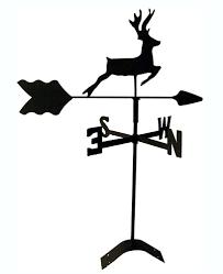 Ducks Unlimited Weathervane Deer Roof Mount Weathervane Black Wrought Iron Handcrafted In Usa