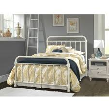 White Frame Bed Iron Beds Metal Headboards With Bed Frames Humble Abode