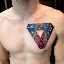 tattoo chest triangle 60 creative and cool cosmic tattoo designs tattooblend