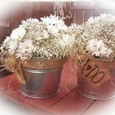 Tin Buckets For Centerpieces by Galvanized Buckets For Centerpieces Burlap Cut And Glued To