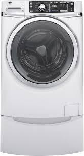 Pedestal Washing Machine Ge Gfw480sskww 28 Inch 4 9 Cu Ft Front Load Washer In White