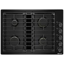 Gas Cooktop With Downdraft Vent Jgd3430gb Jenn Air 30