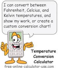 temperature conversion calculator with chart generator
