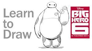 learn draw baymax big hero 6 disney insider disney video