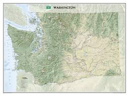 Wall Map Washington Wall Map Usa And Us States Wall Maps Northamerica