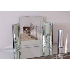 Vanity Mirror Tri Fold Mirrored And Mirror Furniture Online