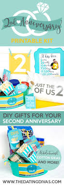 cotton gift ideas second anniversary gift printable kit the dating divas