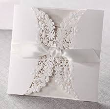 Wedding Invitations With Rsvp 12 Laser Cut Flora U0026 Lace Wedding Invitations With Ribbons With