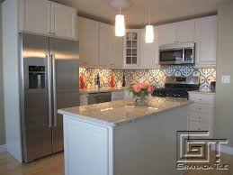 A Bright Take On Normandy For A Cement Tile Backsplash By Granada - Cement tile backsplash