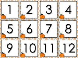calendar number cards numbers 1 31 pumpkin fall festival