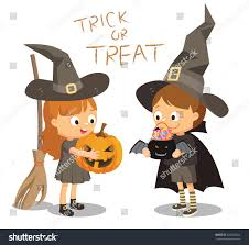 halloween white background halloween festival vector cartoon illustration trick stock vector