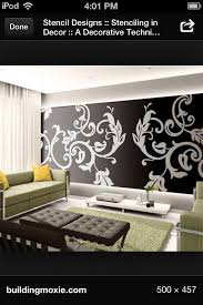 Floral Wall Stencils For Bedrooms 17 Best Decor Stencils Images On Pinterest Stencil Patterns