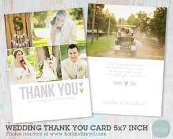 wedding photo thank you cards wedding thank you card photoshop template aw002 instant