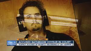 accused bathroom in court