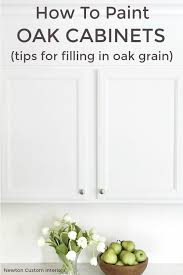what paint to use on oak cabinets how to paint oak cabinets tips for filling in oak grain