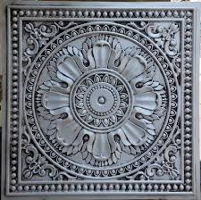 pl17 faux tin ceiling tiles antique white color 3d embossed cafe