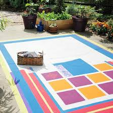 concrete painting project faux floorcloth better homes and