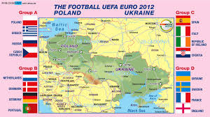 Map Poland Map Of Euro 2012 Poland Ukraine Map In The Atlas Of The