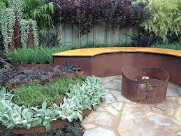 decor metal landscape edging with rock and tree for garden