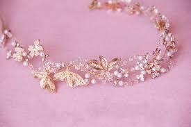 gold headbands gold pearl bridal headbands headpiece floral wedding hair