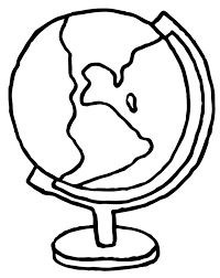 simple globe drawing sketch coloring page