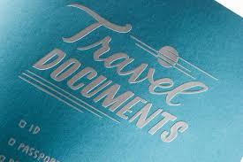 travel documents images Mini pocket folder quot travel documents quot ladyfingers letterpress jpg
