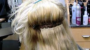 in extensions beaded in and sew in hair extensions