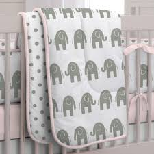 Pink And Gray Shower Curtain by Pink And Gray Elephants Crib Comforter Carousel Designs