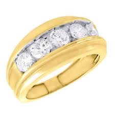 gold wedding band mens 14k yellow gold wedding band mens 5 diamond
