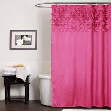 emma ribbon trim shower curtain bright pink pbteen floral shower lush decor lillian pink shower curtain home bed bath bath bathroom accessories bath accessories pink