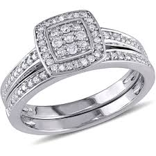 what is a bridal set ring miabella 1 4 carat t w diamond sterling silver bridal ring set