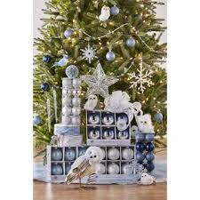 blue theme complete tree decorating kit