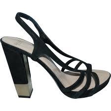 black suede bally sandals vestiaire collective