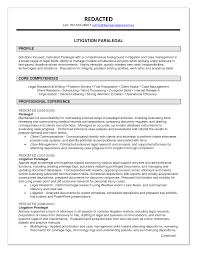 Resume Sample Key Competencies by Paralegal Resume Template
