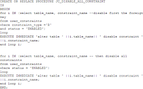 Change Table Name Oracle Oracle Disable Constraints