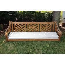 teak porch swings you u0027ll love wayfair
