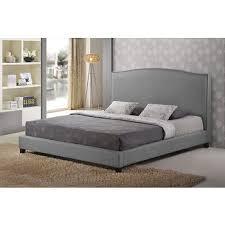 Baxton Studio Platform Bed Baxton Studio Aisling Queen Size Platform Bed Gray Bj U0027s