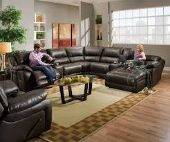 Black Leather Sectional Sofa Recliner Home Impressive Sectional Sofas With Recliners And Chaise Home