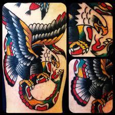 american traditional eagle snake tattoo eagle tattoos designs