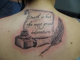 feather pen and quote tattoomagz