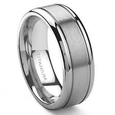 mens titanium rings titanium 8mm grooved wedding ring size 6 14 jewelry