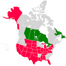 Canada And Us Map by Of Usa And Canada With States And Provinces