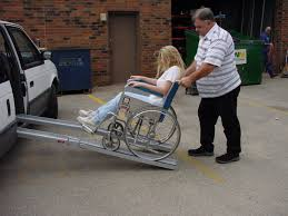 Wheel Chair Ramp Wheelchair Ramps What Length Is Right For Disabled Parking