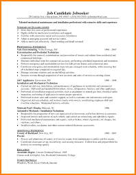 sle resume templates maintenance resume sle aircraft mechanic exles maintenance