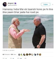 Israel Memes - funny memes of pm modi and israel pm netanyahu while hanging out