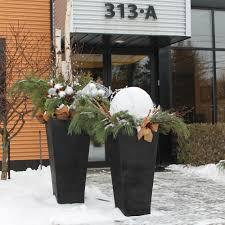 deco entree exterieur du jardin dans vos décorations hivernales galeries d u0027extérieurs